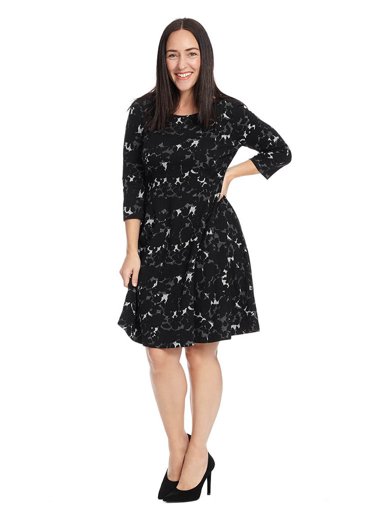 Jacquard Dress In Abstract Floral