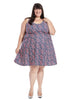 Brigitte Dress In Blueberry Edging
