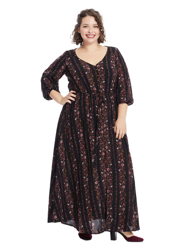 Maxi In Dark Moody Florals