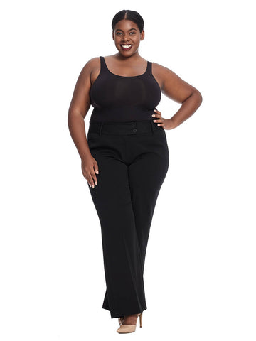 Curvy Fit Bootleg Pant In Short