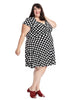 Sweetheart Wrap Dress In Hollywood Dot