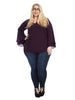 Bell Sleeve Tunic In Purple