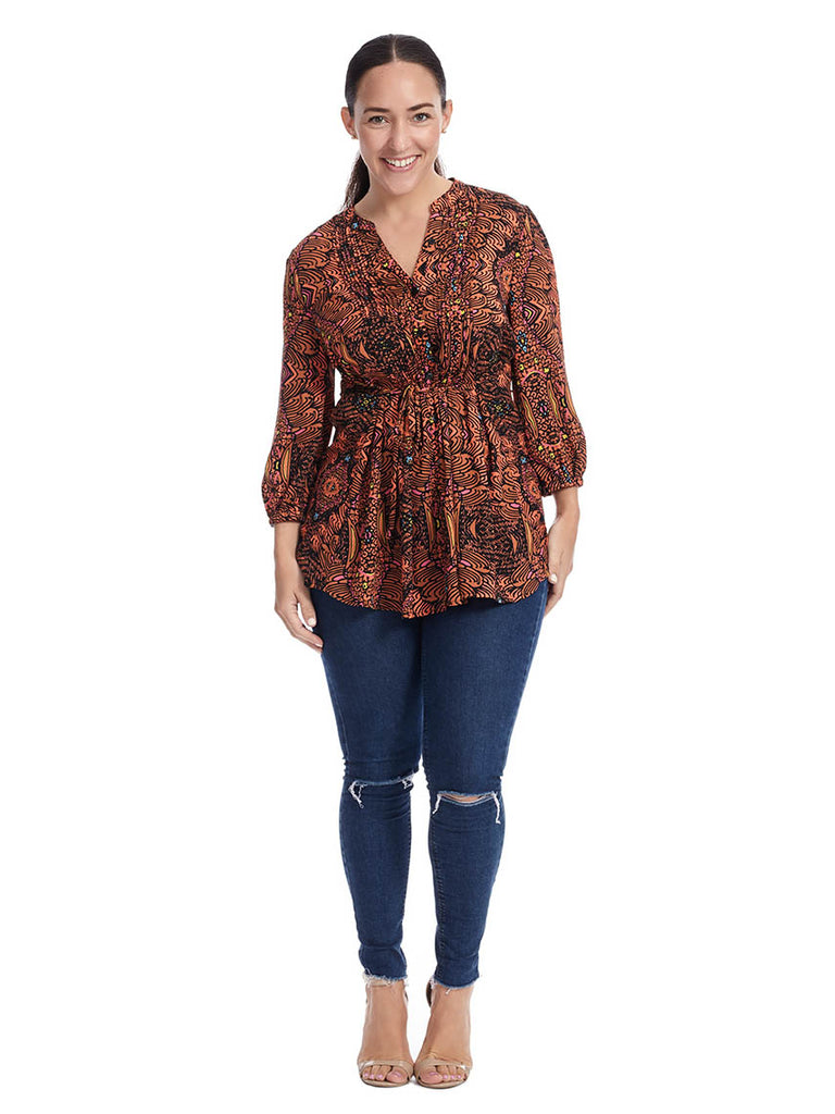 Hurricane Pintuck Blouse