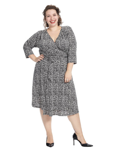 Dominique Dress In Mod Dot