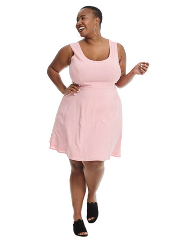Fit And Flare Dress In Geranium Pink