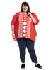 Embroidered Tomato Red Top