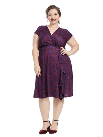 Evelyn Dress In Fuchsia Burst