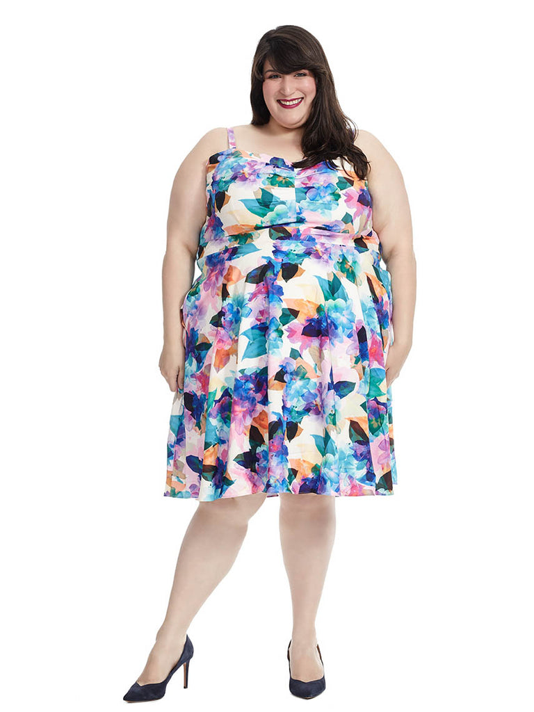 Dress in Rainbow Floral