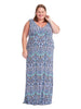 Grecia Maxi Dress In Tile Mosaic