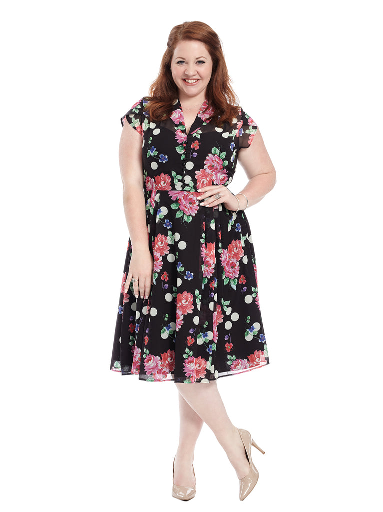 Polka Dot And Floral Bloomsbury Dress