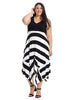 Black And White Hanky Hem Dress