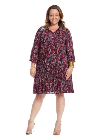 Peasant Dress In Orchard Print