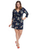 Tie Detail Navy Floral Dress
