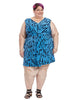 Charlotte Dress In Azure Brushstroke