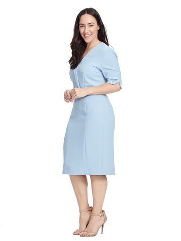 Elbow Sleeve Sheath Dress