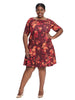 Landon Dress In Wine Flowers