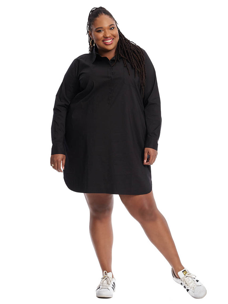Rubicon Shirtdress In Black
