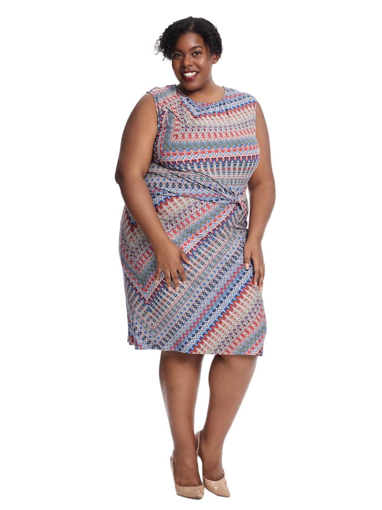 Zig Zag Dress With Side Twist