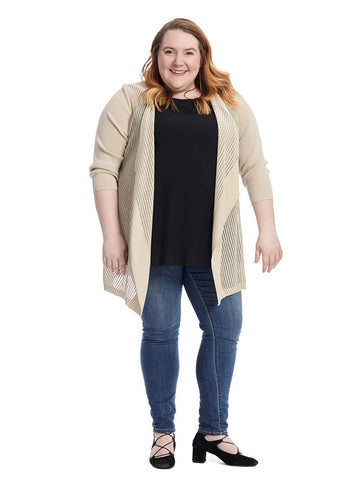 Shadow Stripe Flyaway Cardigan