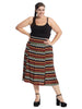 Midi Length Chevron Skirt