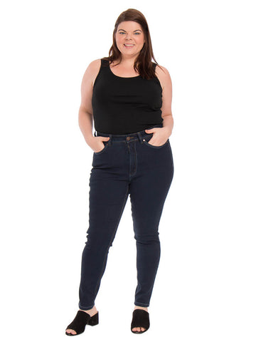 High Rise Skinny Jean In Blue Depths