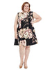 Sleeveless Floral Printed Scuba Dress
