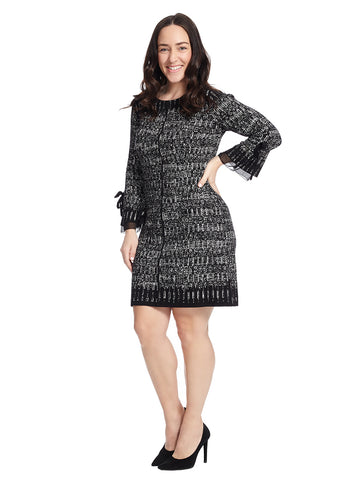 Ruffle Cuff Sweater Dress