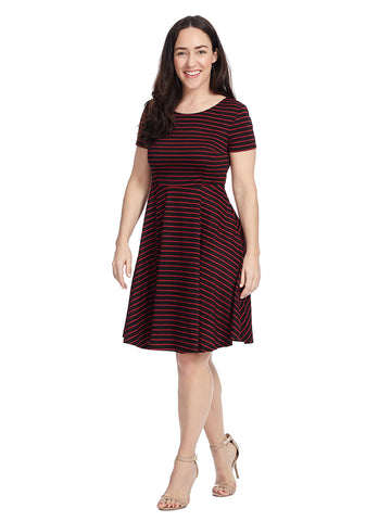 Playlist Professional A-Line Dress In Crimson