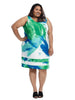 Brushstroke Sheath Dress In Scuba