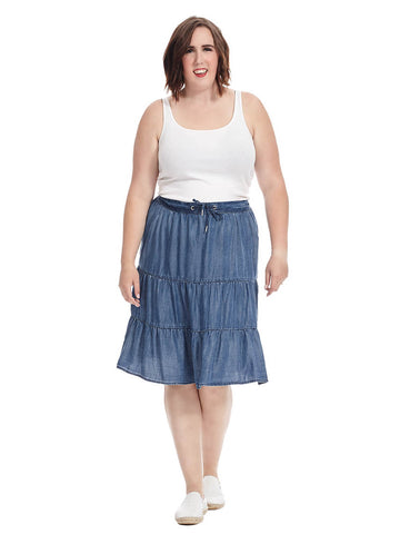 Tencel Tiered Peasant Skirt