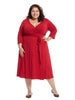 Red Sutton Wrap Dress
