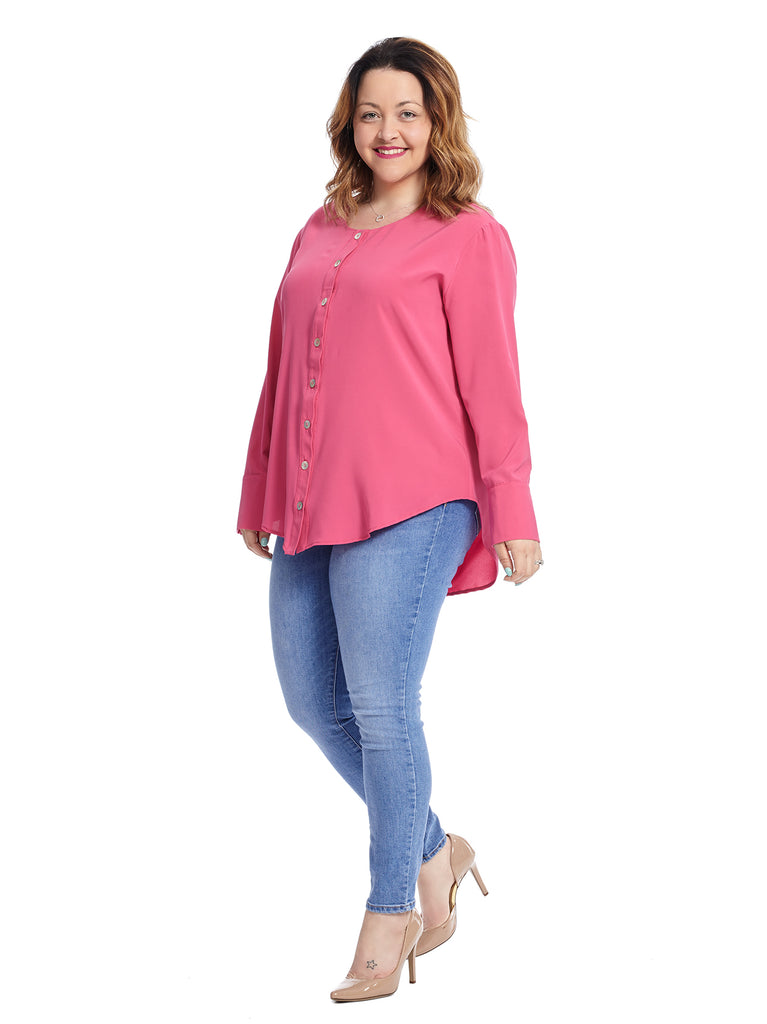 Button Down Dusty Fuchsia Eloise Blouse