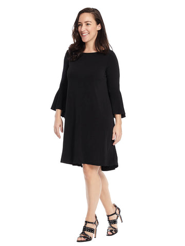 Bell Sleeve Hi-Lo Hem Dress