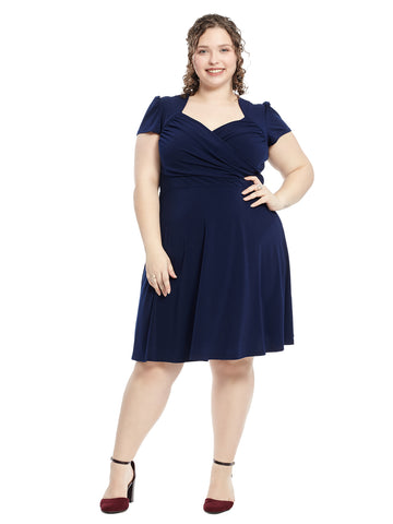 Navy Sweetheart Dress