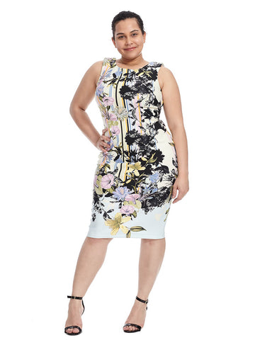 Midi Dress In Blossoming Floral