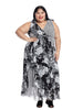 Twin Print Surplice Maxi Dress