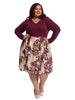 Burgundy Multi Twofer Dress