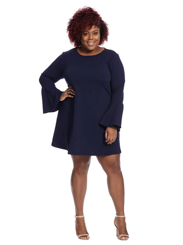 Liana Knit Dress In Navy