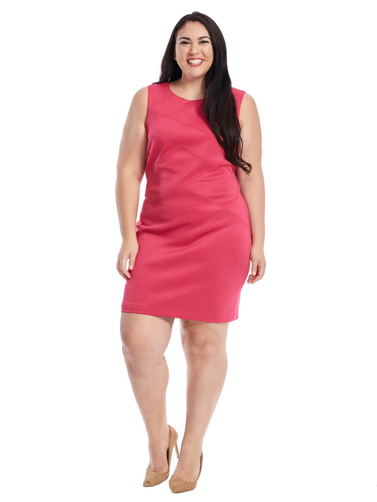 Scuba Dress In Rose