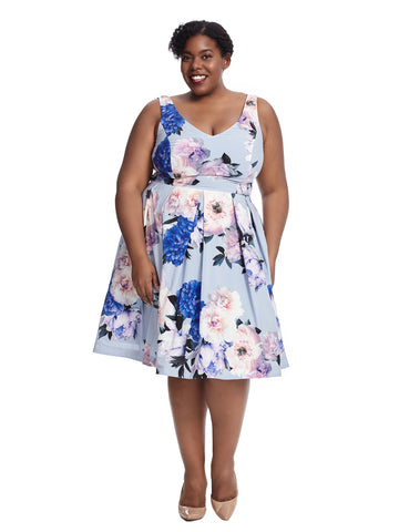 Soft Blue Floral Garden Dress