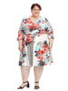 Ruffle Sleeve Floral Ilana Dress