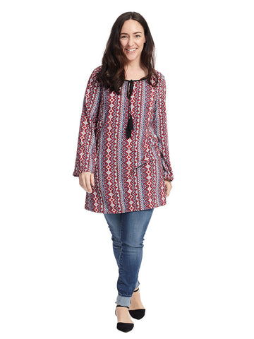 Red And Blue Taryn Tunic