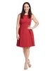 So Sixties Fit And Flare Dress In Crimson