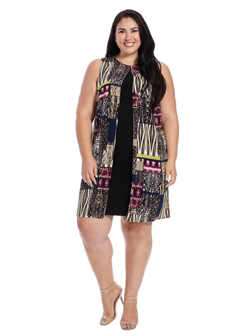 Fly Away Shift Dress In Jungle Patch Print