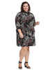Paisley Print Knit Shift Dress