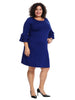 Tiered Sleeve Blueberry Sweater Dress
