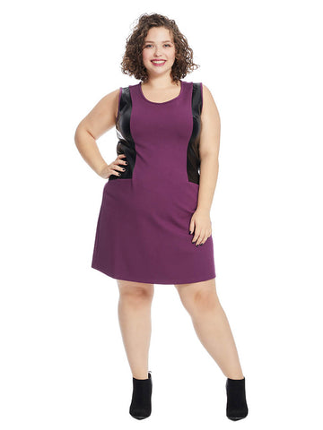 Nora Dress In Bramble Wine
