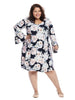Bell Sleeve Paper Rose Print Taylor Dress
