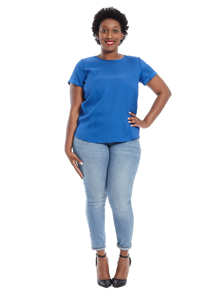 Short Sleeve Azul Top