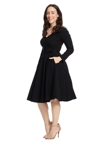 Long Sleeve Maude Fit And Flare Dress